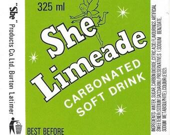 She Limeade Vintage Label, 1940s