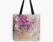 Inner Landscape With Tree tote bag