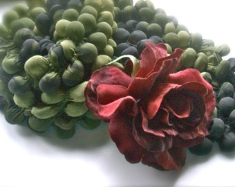 Bubbles Scarf  - Shibori scarf - Green scarf -Polyester - Boho style  -Feminine Draped - Scarf shades of green
