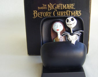Jack Skellington and Sally Haunted Mansion Doom Buggy Collectible Figurine  Disneyland Nightmare Before Christmas Tim Burton MIB
