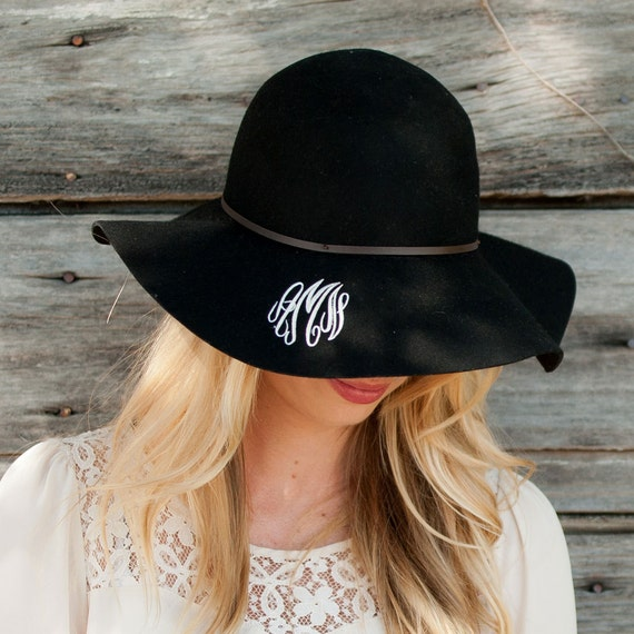 Wool Floppy Hat in Black