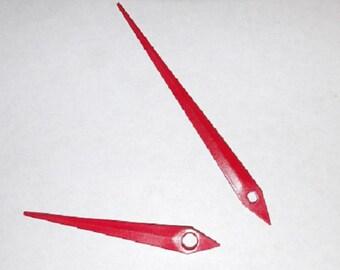 Metal clock hands in red - ch