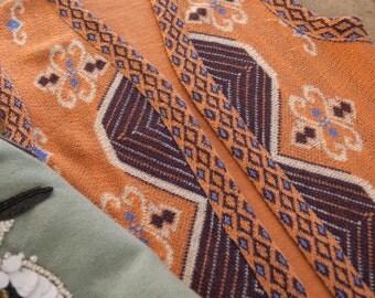 1960s . orange and plum mod vest . small