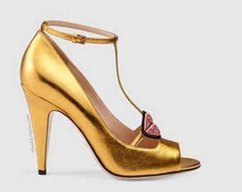Gucci Patent leather pump (yellow)