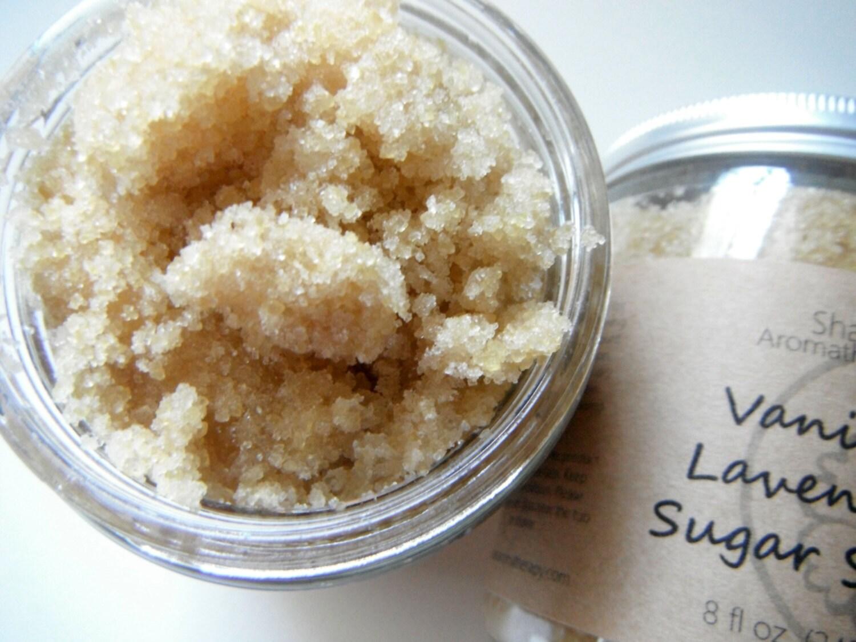 Lavender Vanilla Sugar Scrub All Natural Skincare for Dry