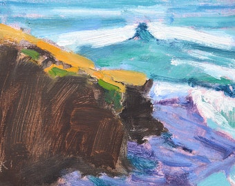 Cliffs in Ocean Beach 2, San Diego Landscape Painting