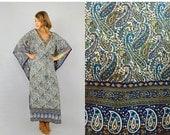 SUMMER SALE SALE • Paisley Kaftan Dress