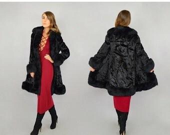SUMMER SALE SALE • 60's Faux Fur Princess Coat