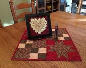 Country Table Topper/ Handmade Runner/ Primitive Decor