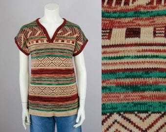 70s Vintage Space Dyed Southwestern Boho Sweater (S)