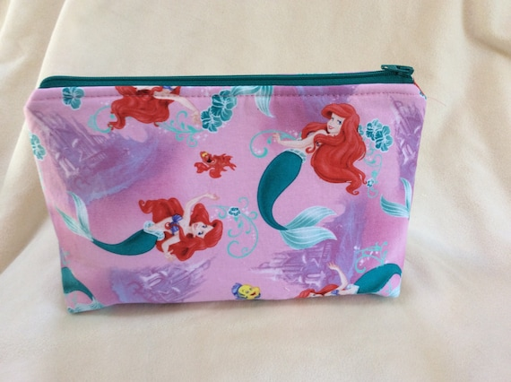 the little mermaid cosmetic makeup bag