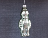 SALE!!! Green Astronaut - Christmas Tree Glass Ornament - Soviet Russian vintage - Holiday decor - New Year