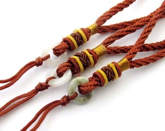3Pieces Silk Cord Hand Pieces--Length About 140mm  ja556
