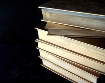 Gold Wedding Books, Gold Wedding Decor, Wedding Table Decor, Gold Book Stack, Wedding Shower Decor, Gold Decoration, Gold Books, Decor