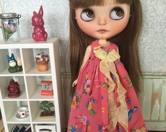 SALE Blythe Angel Dress - Tropical Vacation (pink)