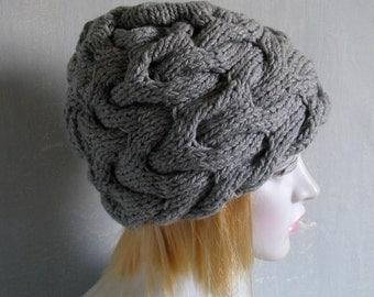 knit hat slouchy women men beanies style hat Large knit hat knit hat beanie chunky knit hat Women Knit Hat Slouchy Women Hat boho knit hat R