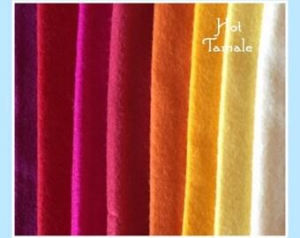 """Hot Tamale 9x12"""" Wool Felt Pack"""