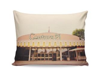 Mid Century Throw Pillow | Movie Theater Decor | Century 21 Theater | Decorative Throw Pillow | San Jose | Travel Trailer Decor | Glamping