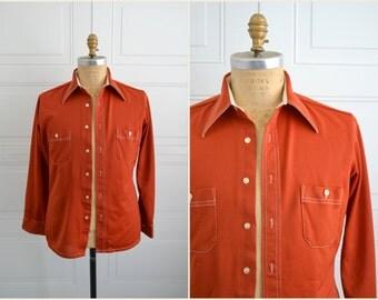 1970s Arrow Orange Shirt