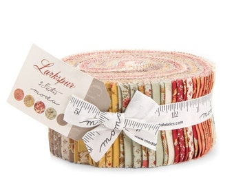 ON SALE Moda Fabric LARKSPUR By 3 Sisters - 40 Pc Jelly Roll Strips