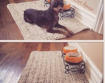 Crochet Puppy rug