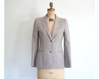 SALE / vintage 1970s taupe wool blazer - ladies 70s jacket / Liz Claiborne - early 80s / retro prep - campus style