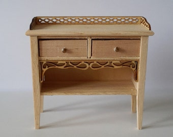Dollhouse miniature   desk unfinished- code VMJ3021