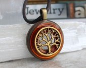 orange tree of life necklace, celtic jewelry, tree necklace, elven jewelry, unique gift, womens gift, nature necklace, forest jewelry