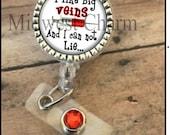 Big veins...   Personalized identification badge reel..Lanyard..id clip..nurse gift...teacher.
