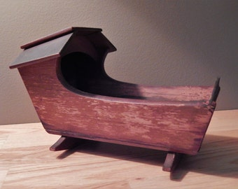 Vintage Vermont Made Small Doll Cradle