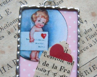 Fiona & The Fig Early - Cupid - Love Letter- Necklace-Pendant-Charm-Jewerly