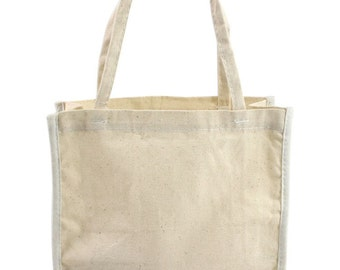 Cotton Tote Bag, Natural Cotton Tote Bags, Special Occasion Bag, 6 X 7 Cotton Party Bags