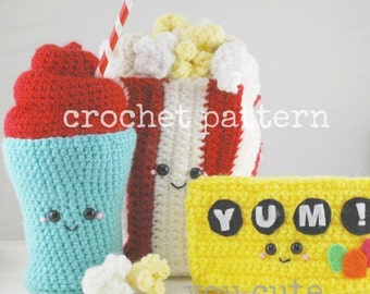 CROCHET PATTERN-Amigurumi Movie Snacks