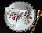 Fuchsia Teacup and Saucer - Duchess, Bone China, England 13387