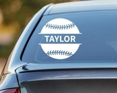 Baseball Decal, Personalized Baseball Decal, Baseball Car Decal, Softball Decal, Personalized Softball Decal, Laptop Sticker, Laptop Decal