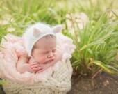 Angora Kitten Bonnet (Newborn)
