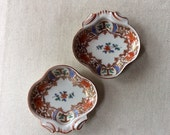 A Pair of Oyster Plates-Antique French Porcelain Single Shot Oyster Plates - Handpainted Porcelain - Paris Brocante Style