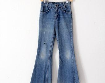 Levi's vintage jeans, 1970s denim flares, bell bottoms