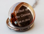 Groomsmen Gift Pocket Watch, Engraved Mens Pocket Watch, Monogrammed Watch, Personalized Groomsman Gift, Gift for Groom, Wedding party Gifts