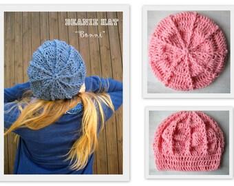 Beani hat pink / name Bonni