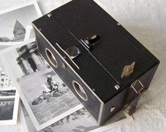 Rare Vintage Eho Duplex Box Camera Film Tool Duplar 1:11 Lens Camera Display Camera Photographer Retro Camera Collector 1920s