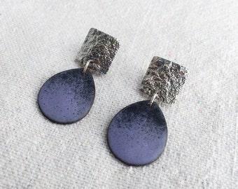 Ombre Enamel Earrings in Purple