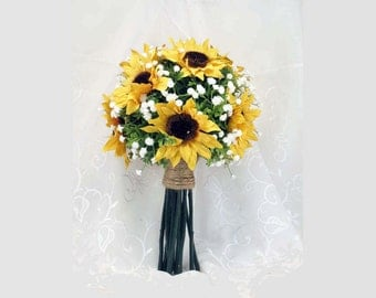 Sunflower Toss Bouquet Small Made to Order Nosegay