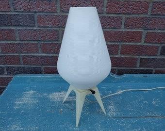 Vintage 1960s MCM plastic beehive table lamp