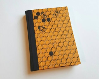 Honey Bees Journal - Honeycomb Pattern - Beekeeping Journal - Daily Writing Journal - Diary - Bees