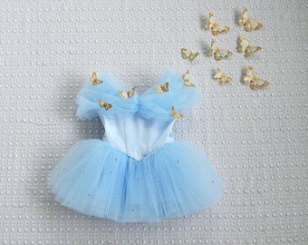 Cinderella Dress with Swarovski Crystals and Butterflies