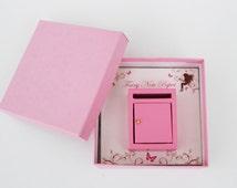 Miniature pink fairy mail box