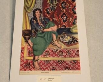 "1937 Art Print ""Odalisque"" by Henri Matisse"
