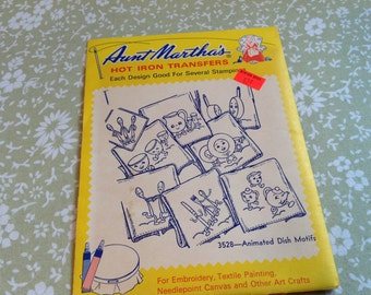Vintage Aunt Martha's Transfers, hot iron transfer, vintage transfers