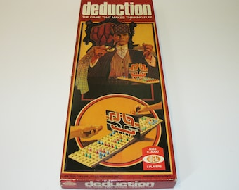 Deduction - The Game That Makes Thinking Fun! Rare Vintage 1976 Ideal
